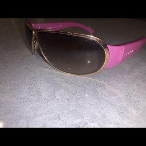 Prada sunglasses in pink and gold